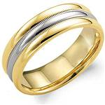 14K White & Yellow Gold Band