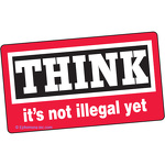 Think, it's not illegal yet.