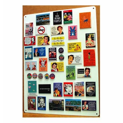 Magnet wall display free only with $250 worth of Merchandise