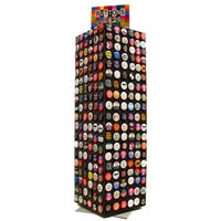 Button tower counter display $40 with $150 button purchase