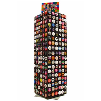 Button tower counter display free with $400 button purchase