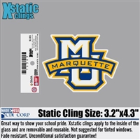 Marquette Golden Eagles MU/MARQUETTE Xstatic Window Cling