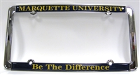 Marquette University Be The Difference License Plate Frame