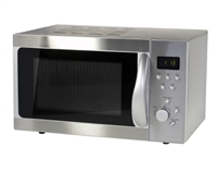 Brushed Steel Microwave
