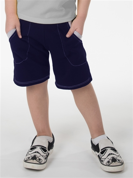 CONTRAST TRIM SHORT - NAVY