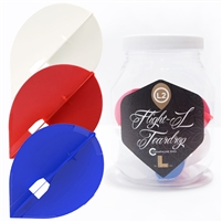 Red/Blue/White Teardrop Champagne Flight (15pc)
