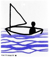 Wash Towel-100% Biodegrade-Sail Boat