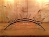 Danish Iron Arch w/3 Glass Candle Holders