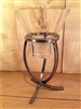 "Danish Iron Cross Foot Tripod Candle Holder - 1 ""Leif"" Candle Cup - Karner Blue Candle & Supply"
