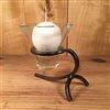 Danish Iron Sling Back Candle Holder