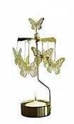 Swedish Rotary Candle Holder-Butterfly-Gold