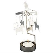 Swedish Rotary Candle Holder-Dala Horse-Silver