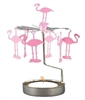 Pink Flamingo Rotary Candle Holder - Swedish