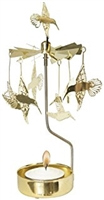 Swedish Rotary Candle Holder-Hummingbird-Gold