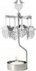 Swedish Rotary Candle Holder-Lovebirds-Silver
