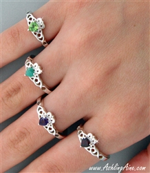 Sterling Silver Natural EMERALD Claddagh (#Emerald Claddagh)