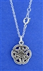 """Wings of an Angel"" Celtic Trinity Knot 18"" Necklace  (Rpew9)"