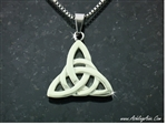 316L Stainless Steel Modern Trinity Knot Pendant (S139)