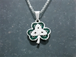 """Celebrating St. Patrick"" Adjustable Trinity Necklace (S89adjchain)"