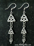 Dainty Triple Trinity dangle Earrings( S122)