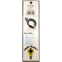 "025322 LIGHT GENIE LED MINI AMBER WITH 12"" LEADS (4 pack)"