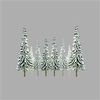 0592008 SNOW SPRUCE 6 to 10 SCENIC O-scale, 12/pk