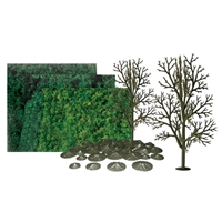 0592066 SYCAMORE 8 SCENIC KIT, All-scales, 4/pk