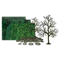 0592067 DECIDUOUS 6 SCENIC KIT All-scales, 6/pk