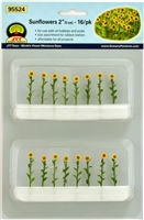 "0595524 SUNFLOWERS 2"" O-SCALE, 16/PK"