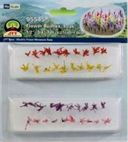 0595545 FLOWER BUSHES 1/2-3/4, HO-SCALE, 40/PK