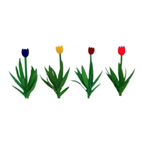 0595554 TULIPS 1/2, HO-SCALE, 36/PK