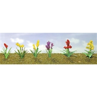 "0595560 FLOWER PLANTS ASSORTMENT 2, 1"" Wide, O Scale, 10/pk."