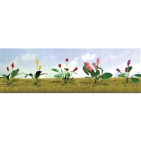 "0595562 FLOWER PLANTS ASSORTMENT 3, 3/4"" High, O Scale, 10/pk."