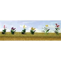 "0595563 FLOWER PLANTS ASSORTMENT 4, 5/8"" High, HO Scale, 12/pk."