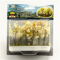 "95626 Woods Edge Trees, Beige Green, 3"" to 3.5"", HO-scale, 9/pk"