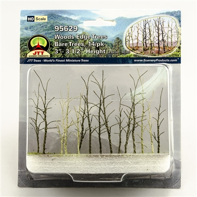"95629 Woods Edge Trees, Bare, 3"" to 3.5"", HO-scale, 14/pk"