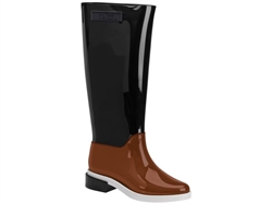 Black Brown Long Boot