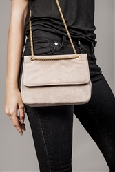 Suede Leather Chain Bag
