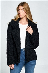 Curls Of Softness Black Jacket