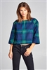 Plaid Out Of Here Top