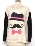 Hat Bow Mustache Sweater