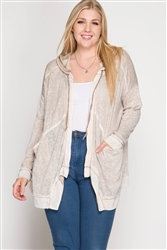 Taupe Hooded Jacket