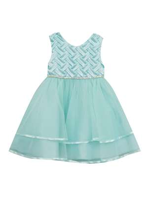 Mint Basket Weave Dress,Rare Editions,Little Girls (2-6X)