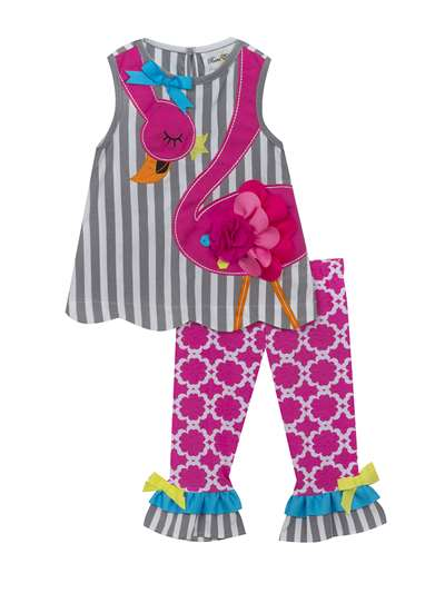 Flamingo Legging Set,Rare Editions,Little Girls (2-6X)