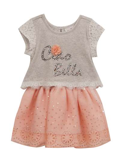 Ciao Bella Gray Lace Tutu Dress, Rare Editions, Little Girls (4-6X)