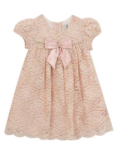 Pink Floral Lace Dress, Rare Editions, Baby Girls (12-24M)