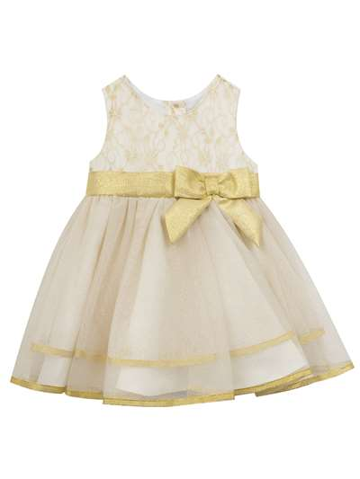 Ballerina Dress With Gold Bow, Rare Editions, Baby Girls (12-24M)
