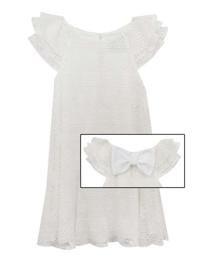 Ivory Pleated Lace Sundress, Rare Editions, Little Girls (2-6X)
