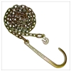 "GRADE 70 Chain with 15"" J Hook one end, Grab Hook one end 5/16"" x 8FT"