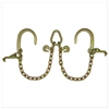 "GRADE 70 2' Leg V Chain with 8"" J Hooks, T Hooks, Grab Hooks, and Pear Link"